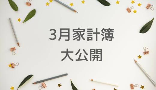 【家計簿】手取り23万円むぎ家の3月の家計簿大公開