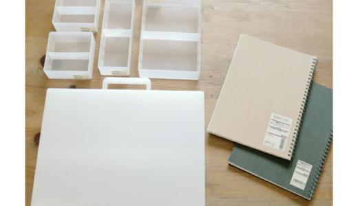 【整理】無印良品で家計簿セット購入。お道具箱としても利用可能で大活躍!