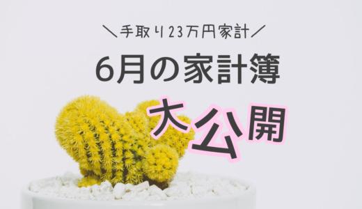 【家計簿】手取り23万円むぎ家の6月の家計簿大公開!